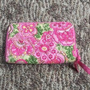Vera Bradley Retired Petal Pink Large Wallet